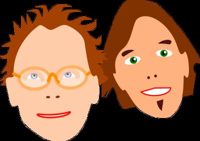 Cartoon von Pawel und Carsten